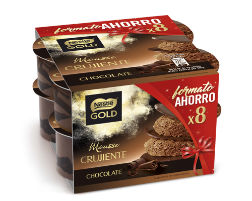 Mousse Crujiente de Chocolate x8